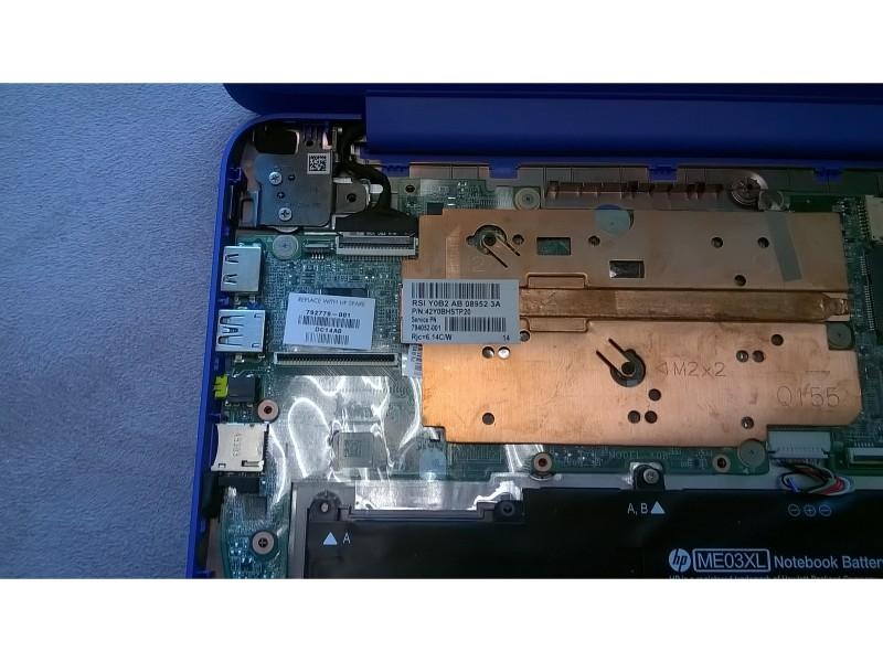 Разборка для модернизации SSD в ноутбуке HP Stream 13