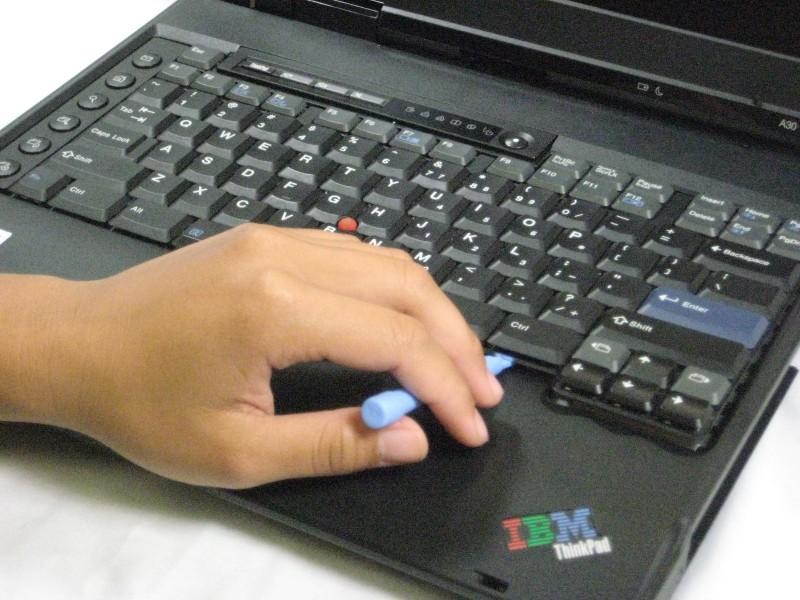 Разборка верхней панели ноутбука IBM ThinkPad A30
