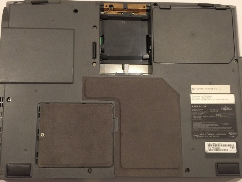Замена ОЗУ в ноутбуке Fujitsu Lifebook A6110