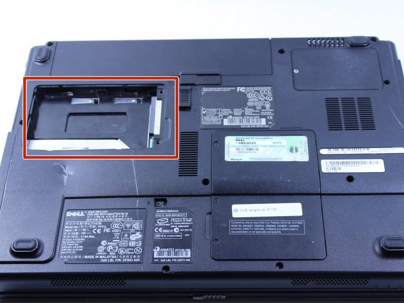 Замена жесткого диска в ноутбуке Dell Inspiron B130