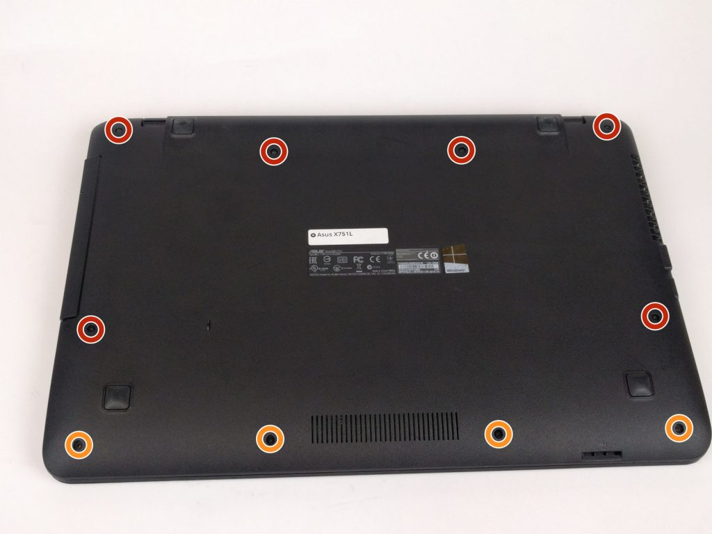 Замена клавиатуры ноутбука Asus X751L
