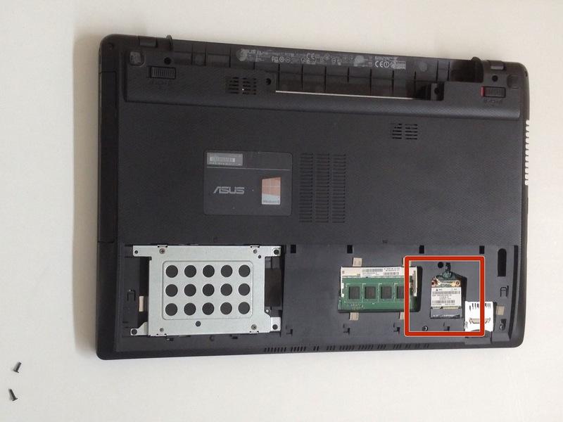 Замена беспроводной карты(Wi-Fi адаптер) ноутбука Asus X55C